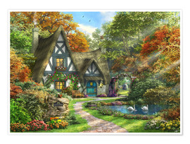 Premium poster the autumn cottage