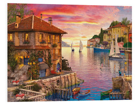 Foam board print  The Mediterranean Harbour - Dominic Davison