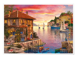 Premium poster The Mediterranean Harbour