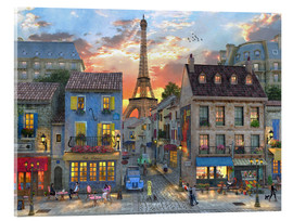 Acrylic print  streets of paris - Dominic Davison