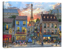 Canvas print  streets of paris - Dominic Davison