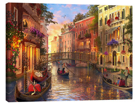 Canvas print  sunset in venice - Dominic Davison