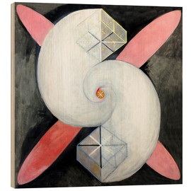 Wood print  The swan, No. 21 - Hilma af Klint