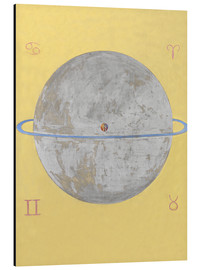 Aluminium print  The Dove, No. 12 - Hilma af Klint