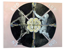 Foam board print  Evolution, No. 3 - Hilma af Klint
