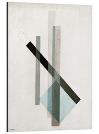 Aluminium print  Construction (glass architecture) - László Moholy-Nagy