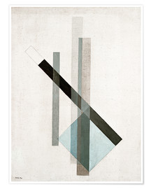 Premium poster  Construction (glass architecture) - László Moholy-Nagy