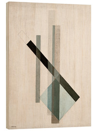 Wood print  Construction (glass architecture) - László Moholy-Nagy