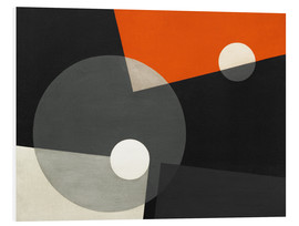 Foam board print  Composition On 7 - László Moholy-Nagy