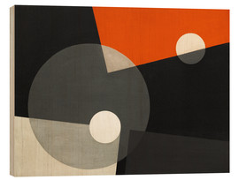 Wood print  Composition On 7 - László Moholy-Nagy