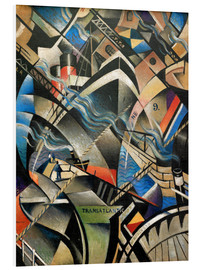 Foam board print  The arrival - Christopher Nevinson
