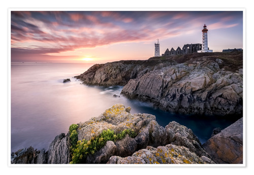 Premium poster Lighthouse of St. Mathieu (France / Brittany)