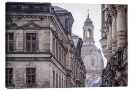 Canvas print  Overlooking the Frauenkirche in Dresden (Germany) - Christian Müringer