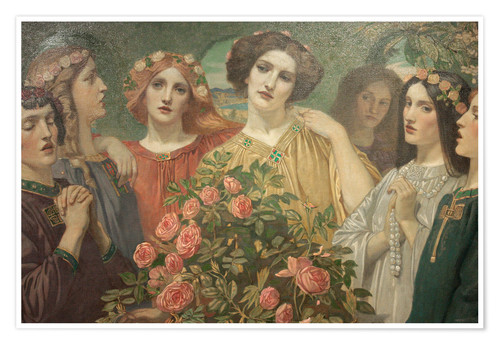 Premium poster Hymn to the Rose (detail)