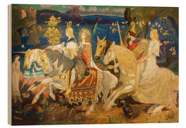 Wood print  Riders of the Sidhe - John Duncan
