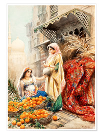 Premium poster The Orange Seller