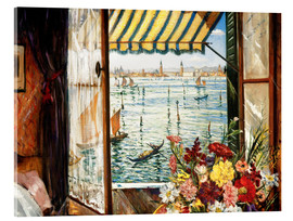 Acrylic print  Looking out a window in Venice - Christopher Nevinson