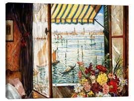 Canvas  Looking out a window in Venice - Christopher Nevinson