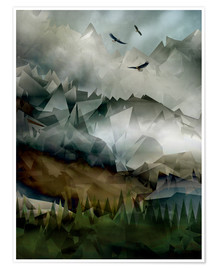 Premium poster  Eagle Mountains - Angelo Cerantola