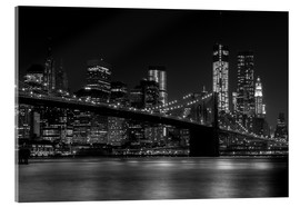 Acrylic print  Brooklyn Bridge at Night - Thomas Klinder