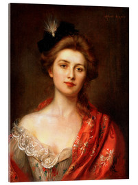 Acrylic print  Woman in a red embroidered shawl - Albert Lynch