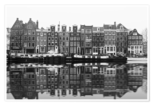 Premium poster Reflections of Amsterdam