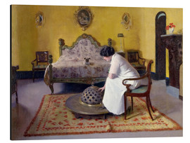 Aluminium print  Interior with Julia - Ramon Casas i Carbo