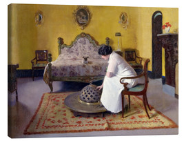 Canvas  Interior with Julia - Ramon Casas i Carbo