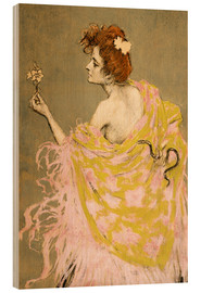 Wood  design for the poster 'Sífilis'  - Ramon Casas i Carbo