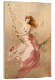 Wood print  The swing - Edouard Bisson