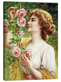 Canvas print  Fragrant roses - Emile Vernon