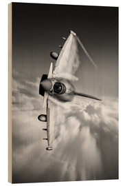Wood print  Typhoon Knife Edge mono - airpowerart