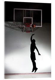 Acrylic glass  Silhouette of a basketball player