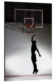 Aluminium print  Silhouette of a basketball player