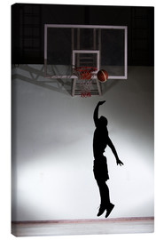 Canvas  Silhouette of a basketball player