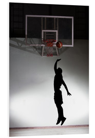 Foam board print  Silhouette of a basketball player