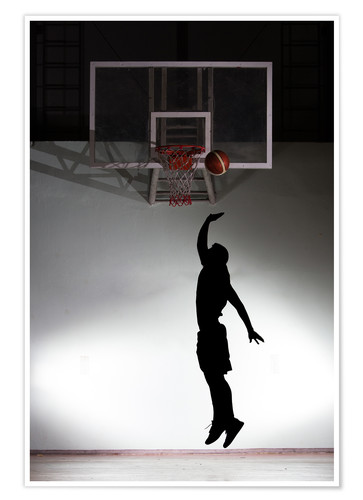 Premium poster Silhouette of a basketball player