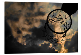 Acrylic print  Basketball hoop and sky