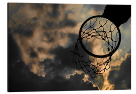 Alu-Dibond  Basketball hoop and sky
