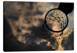 Canvas  Basketball hoop and sky