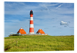 Acrylic glass  Westerhever Lighthouse at the North Sea coast