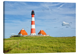 Canvas print  Westerhever Lighthouse, North Sea coast