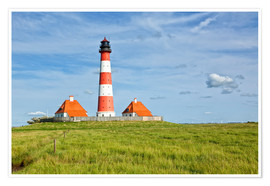 Premium poster  Westerhever Lighthouse, North Sea coast
