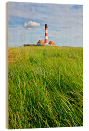 Wood print  Westerhever in summer