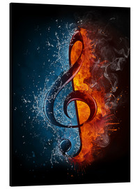 Aluminium print  Fire and water music