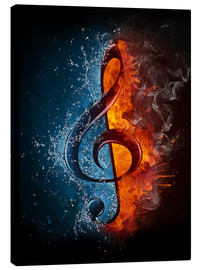 Canvas  Fire and water music