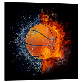 Acrylic print  Basketball in the battle of the elements