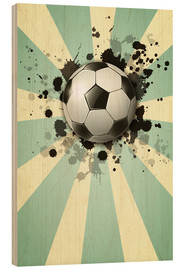 Wood print  Football forever - Kidz Collection