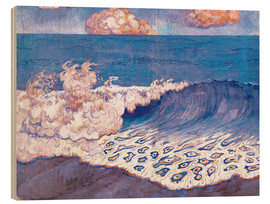 Wood print  Blue seascape - Georges Lacombe