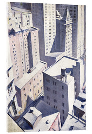 Acrylic glass  Looking Down on Downtown - Christopher Nevinson